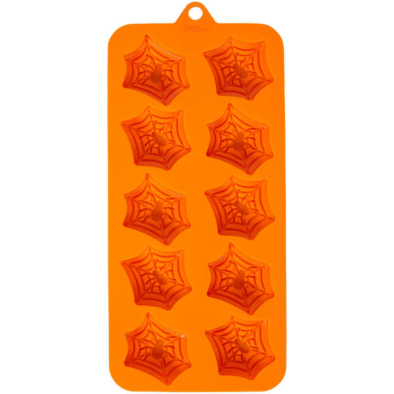 Halloween Spider Web Silicone Treat Mold, 12-Cavity image number 0