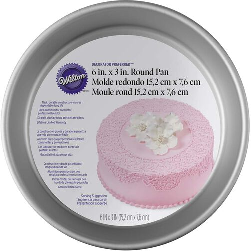 Decorator Preferred 6x3 Round Cake Pan