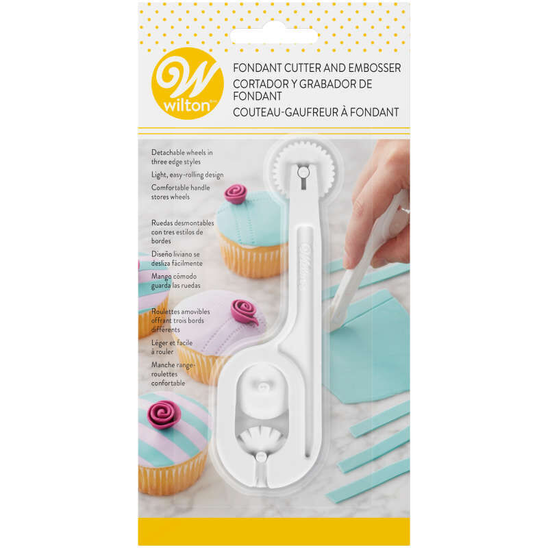 Fondant Cutter and Embosser Tool Set, 4-Piece image number 1