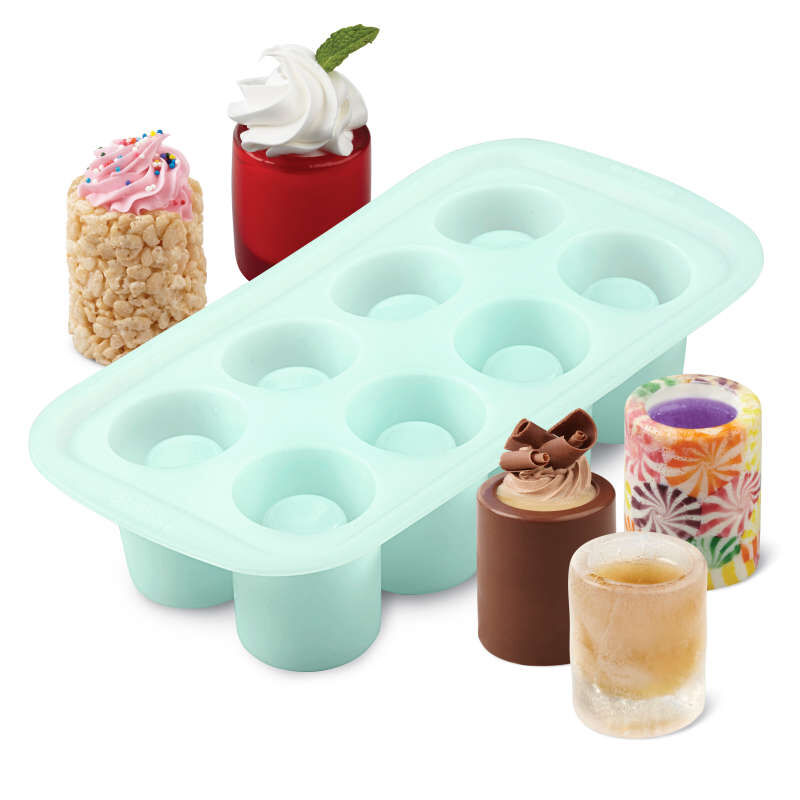 Round Silicone Shot Glass Mold, 8-Cavity image number 3