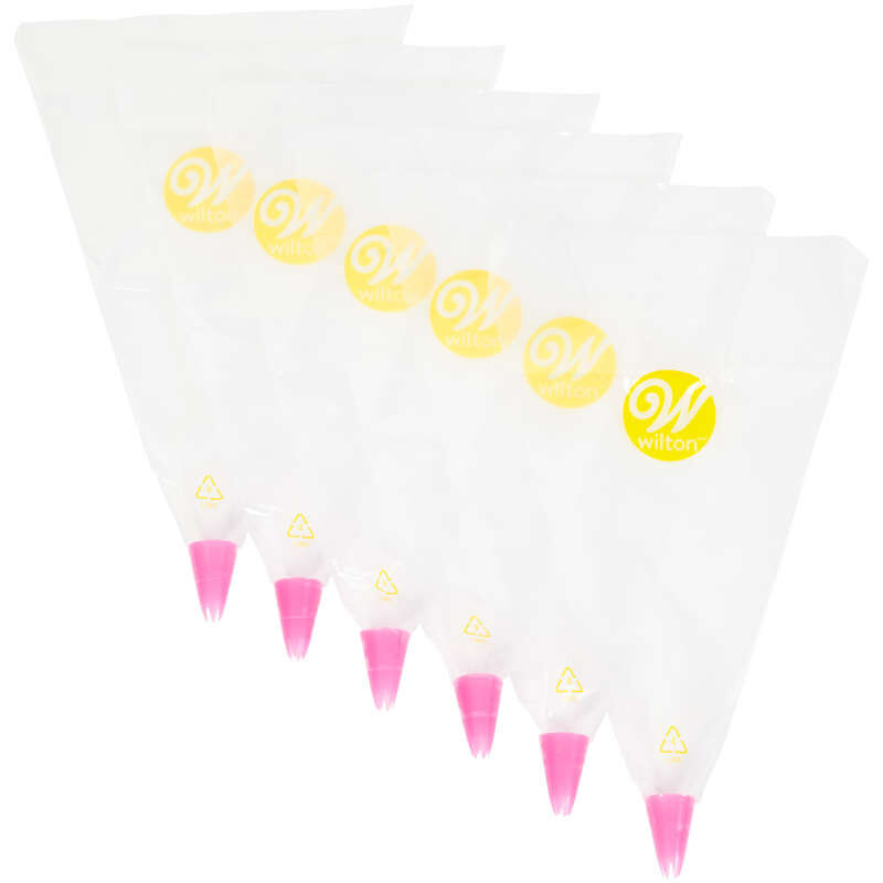 All-In-One Disposable Decorating Bags with Tips, 6-Count image number 0