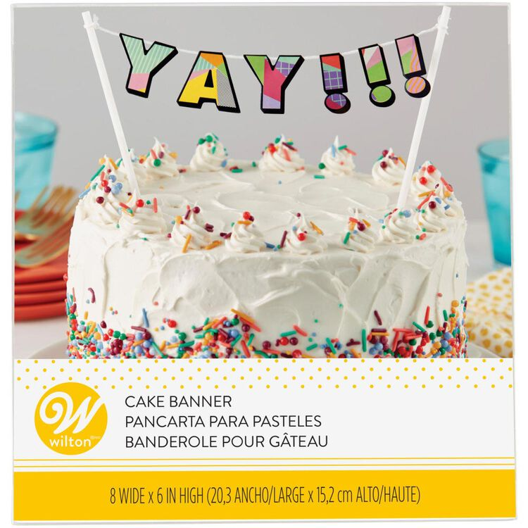 Yay!!! Birthday Cake Banner