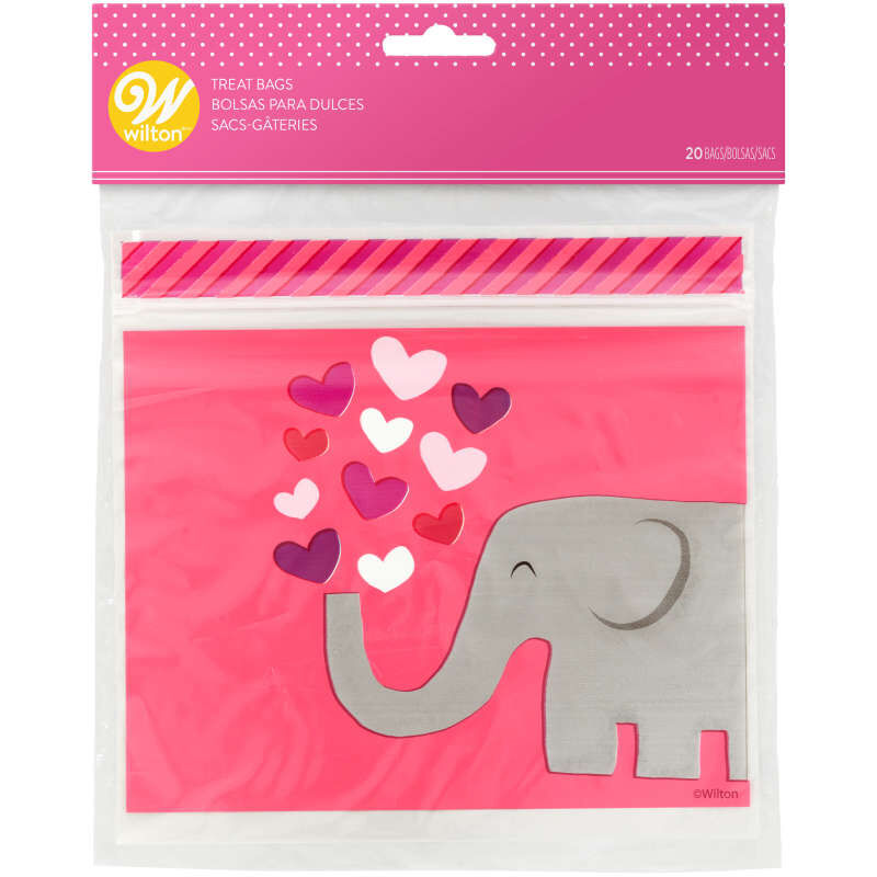 Resealable Tons of Love Valentine's Day Treat Bags, 20-Count image number 3