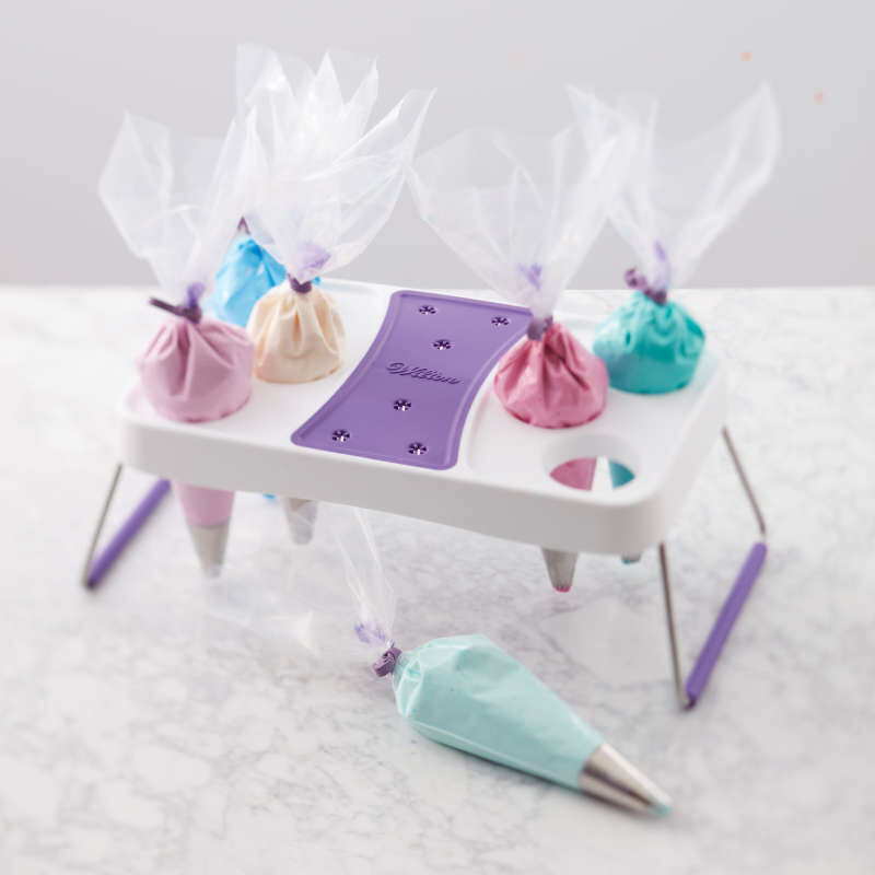 Cake Decorating Icing Bag Stand, 6-Cavity image number 4