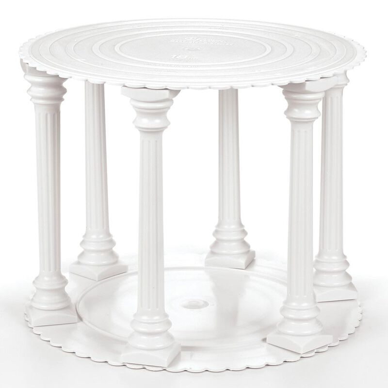 Roman Column Tiered Wedding Cake Stand, 8-Piece image number 2