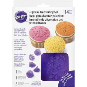 Flowers Fondant Cupcake Decorating Set