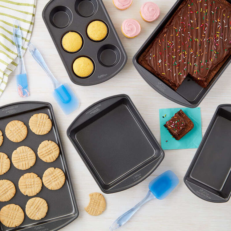 Perfect Results Premium Non-Stick Bakeware and Spatulas Set, 8-Piece