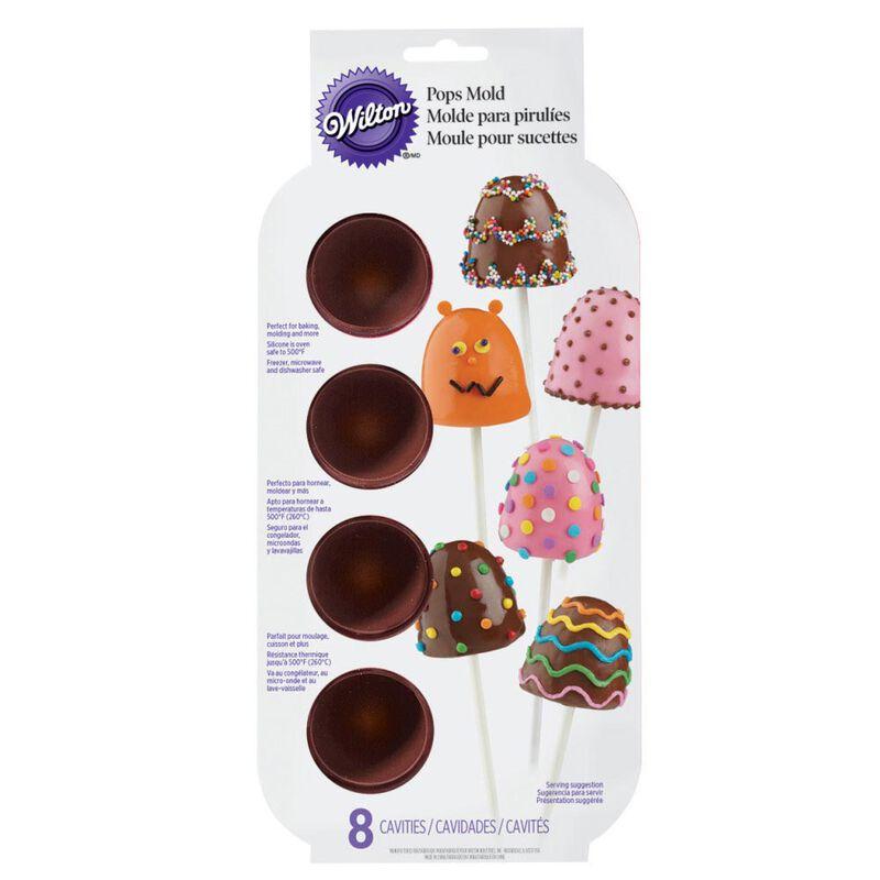 Brownie Pops Silicone Brownie and Cake Pop Pan, 8-Cavity image number 1