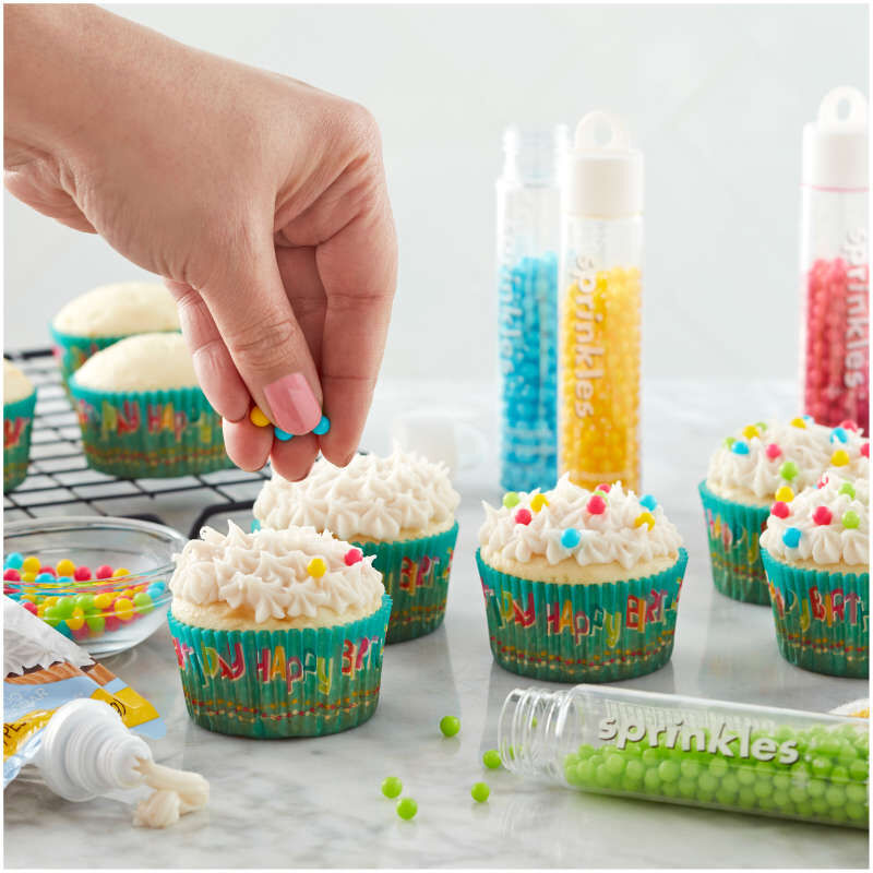 Happy Birthday Cupcake Liners, 50-Count image number 3
