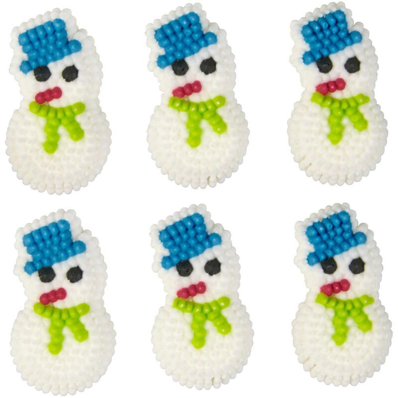 Mini Snowman Icing Decorations, 20-Count image number 2