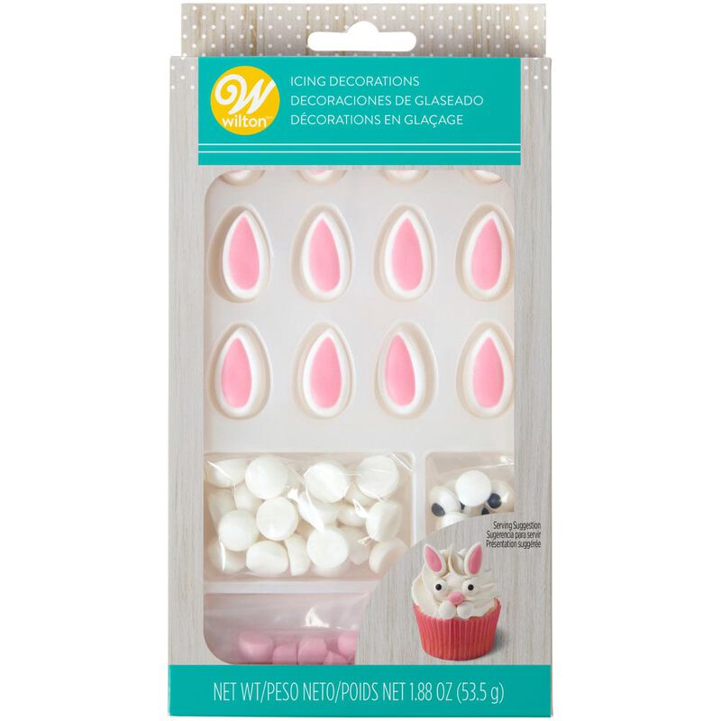 Easter Bunny Face Icing Decorations Kit image number 2