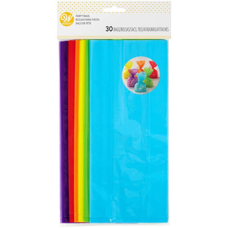 Colored Treat Bags, 30-Count image number 1
