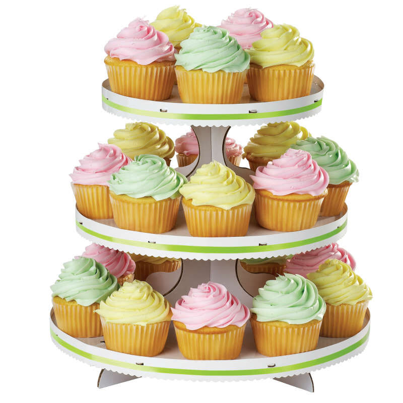 3-Tier Cupcake Stand, White image number 4