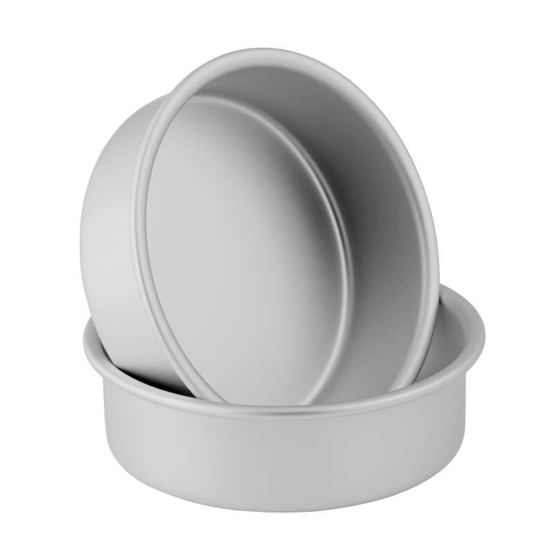 Small and Tall 6 x 2-Inch Aluminum Cake Pan Set, 2-Piece image number 2