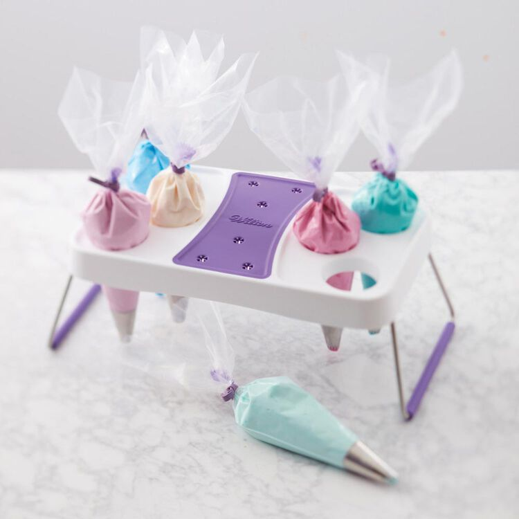 Cake Decorating Icing Bag Stand, 6-Cavity