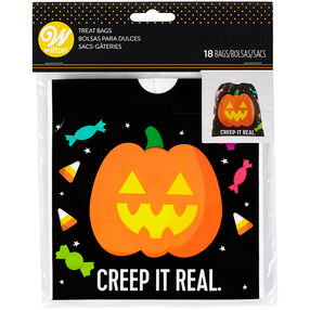 Pumpkin Creep It Real Treat Bags, 18-Count
