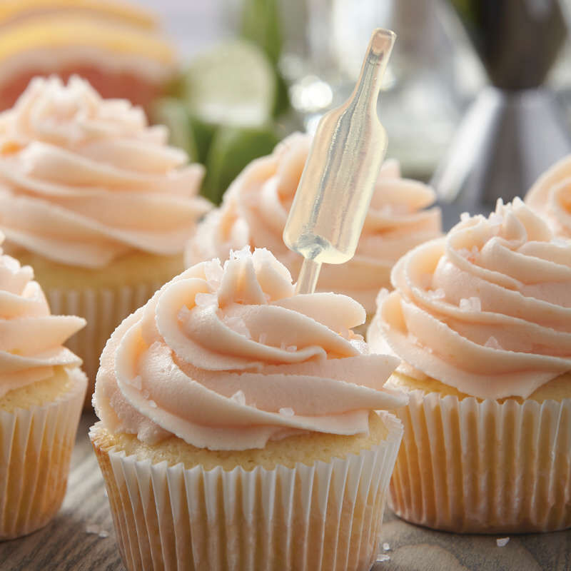 Vanilla Cupcake with Pink Buttercream and a Bottle Flavor Infuser image number 3