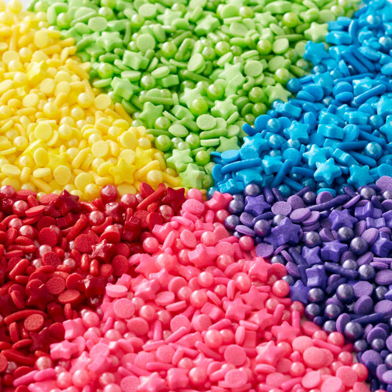 6-Cell Rainbow Medley Sprinkles Mix with Turning Lid, 6.56 oz. image number 0