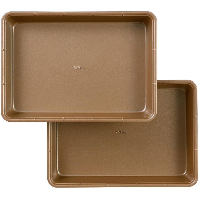Ceramic-Coated Non-Stick 9 x 13-Inch Oblong Pan (2 Pack), Ceramic Baking Pan Set image number 0