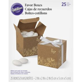 Kraft Gold Foil Favor Boxes