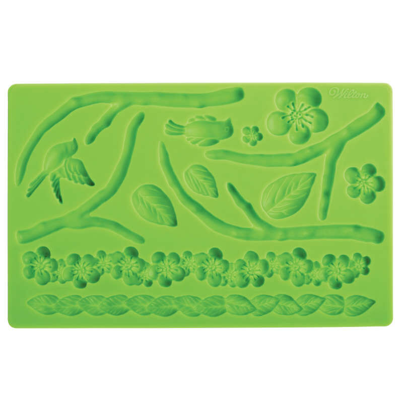 Silicone Nature Designs Fondant and Gum Paste Mold - Cake Decorating Supplies image number 1