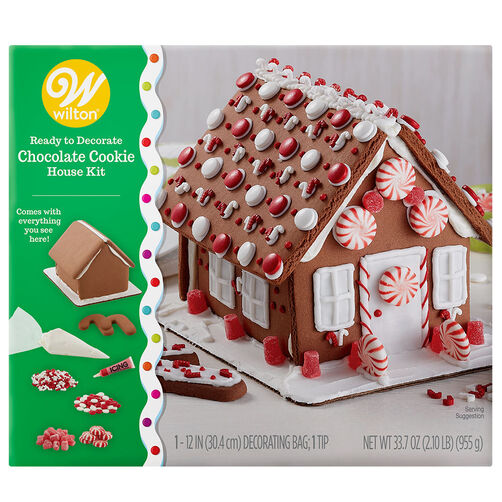 Ready-to-Decorate Chocolate Cookie House Decorating Kit
