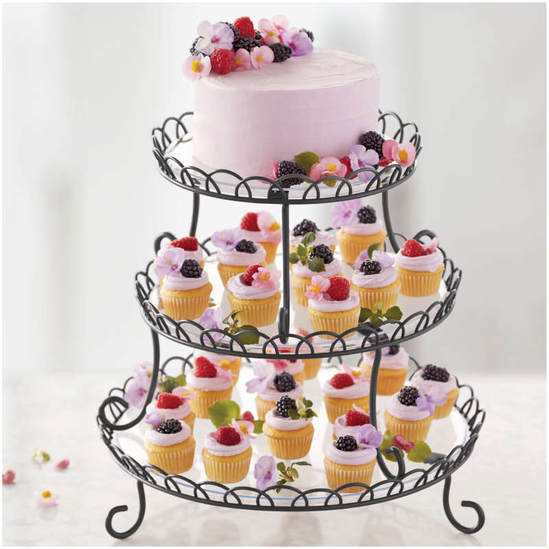 3-Tier Customizable Iron Treat Stand, 13-Inch image number 4