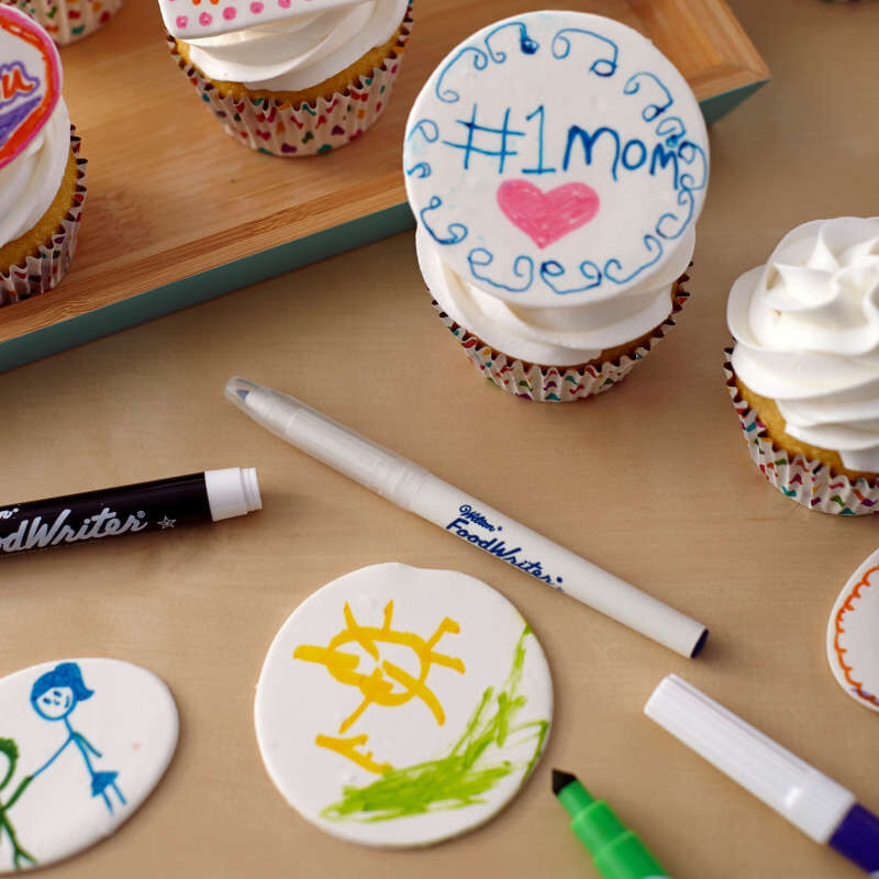 FoodWriter Extra-Fine Tip Edible Food Markers, 5-Color Pack image number 4
