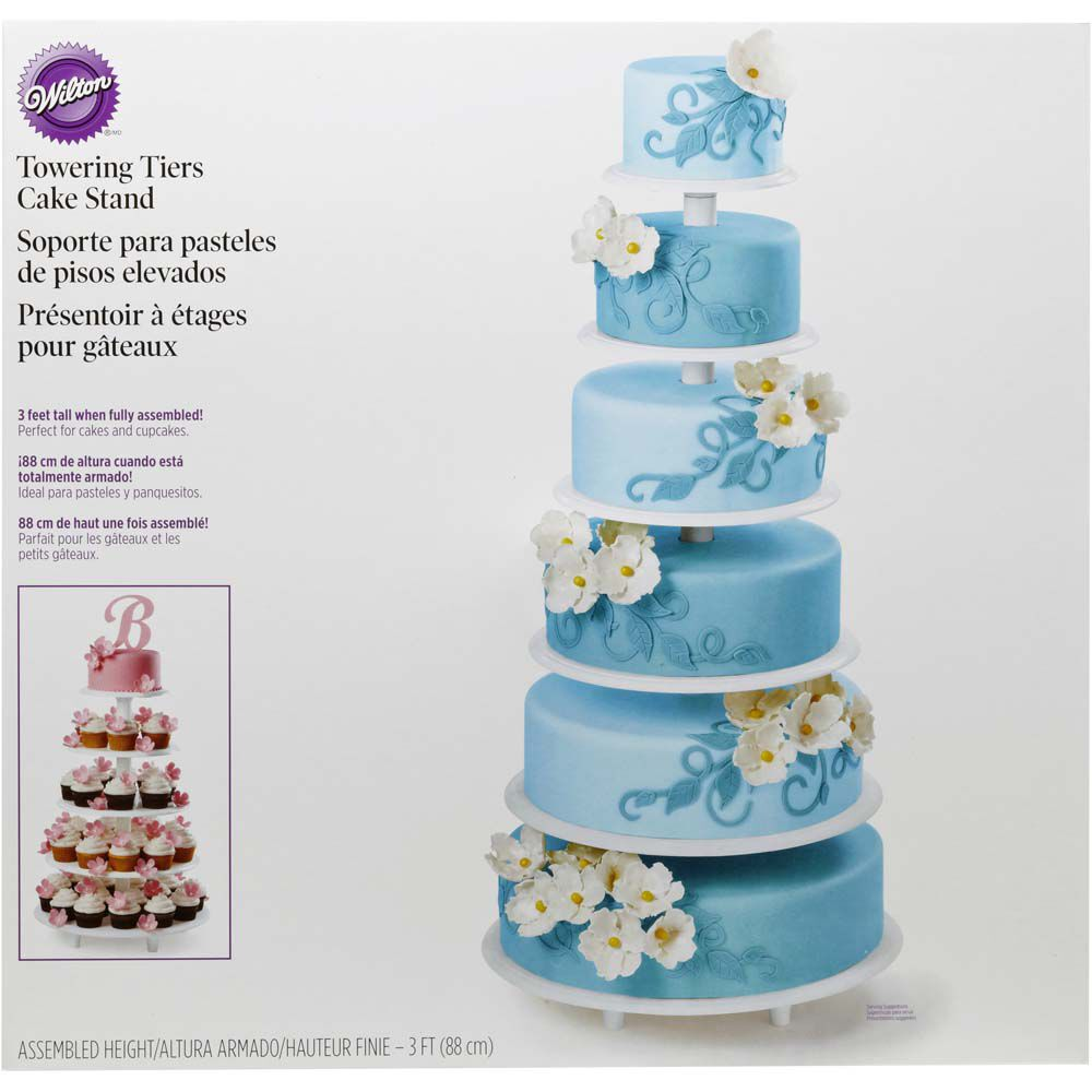 Towering Tiers Cake Stand  sc 1 st  Wilton.com & Towering Tiers Cake Stand   Wilton