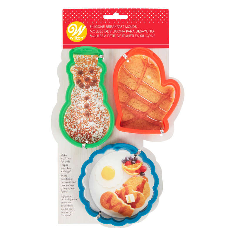 Silicone Pancake Molds, 3-Piece image number 2