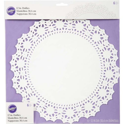 "12"" Round Grease Proof White Doilies"