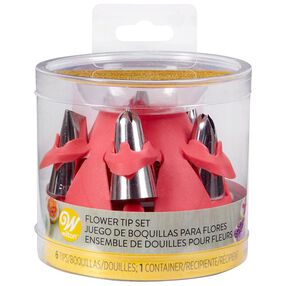 Flower Tip Set With Silicone Stand