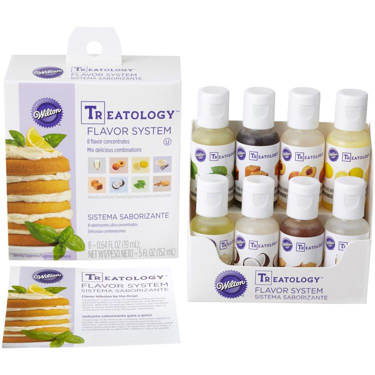Treatology Flavor Extracts Kit, 8-Piece Food Flavoring