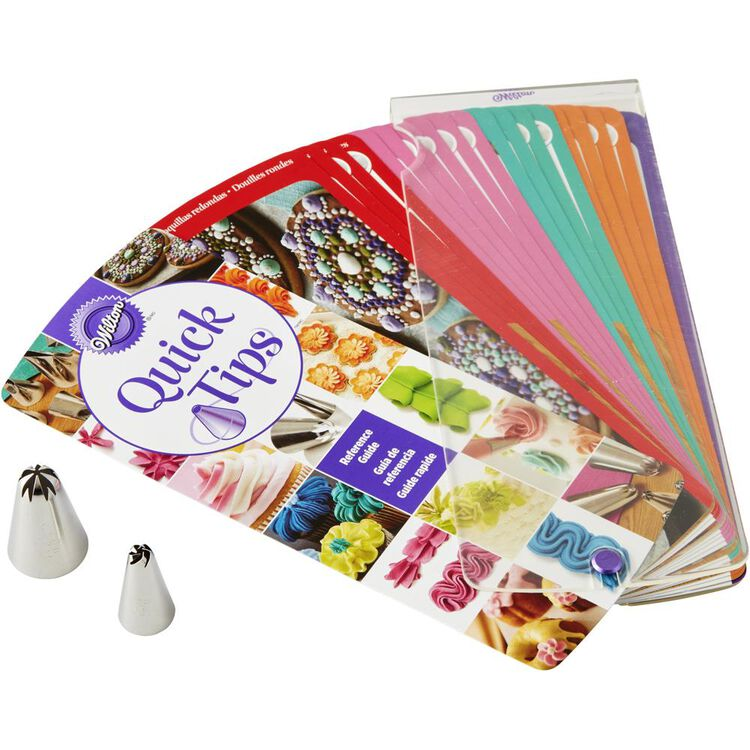 Quick Tips Reference Guide for Decorating with Piping Tips, 4-Piece