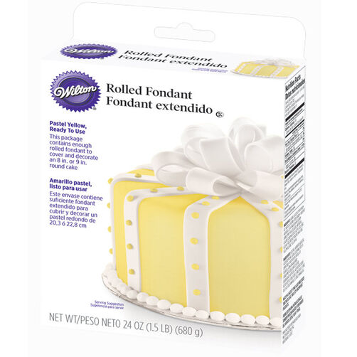 Ready-To-Use Pastel Yellow Rolled Fondant