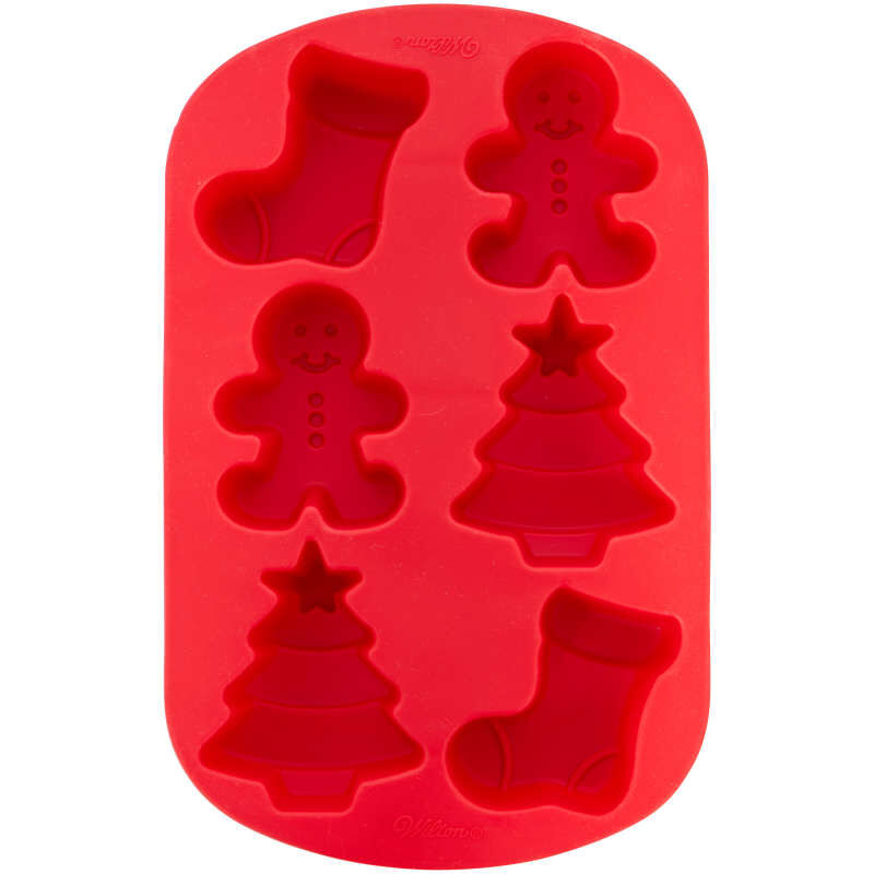 Christmas Shapes Silicone Treat Mold, 6-Cavity image number 0