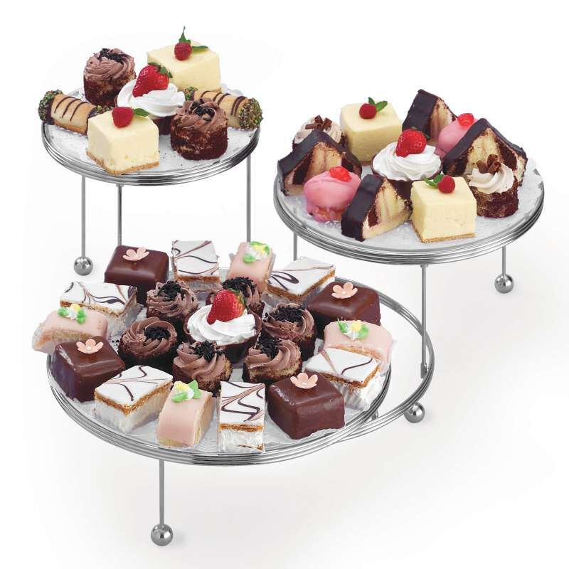 Cakes 'N More 3-Tier Cake Stand, Chrome image number 4