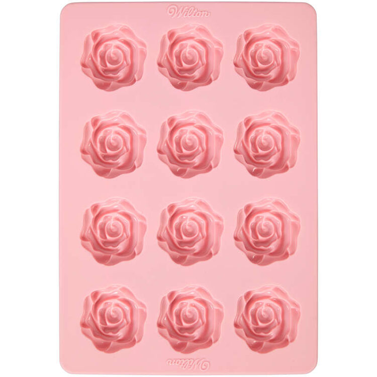 Rose Candy Mold Top View