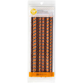 Orange and Black Treat Sticks, 25-Count