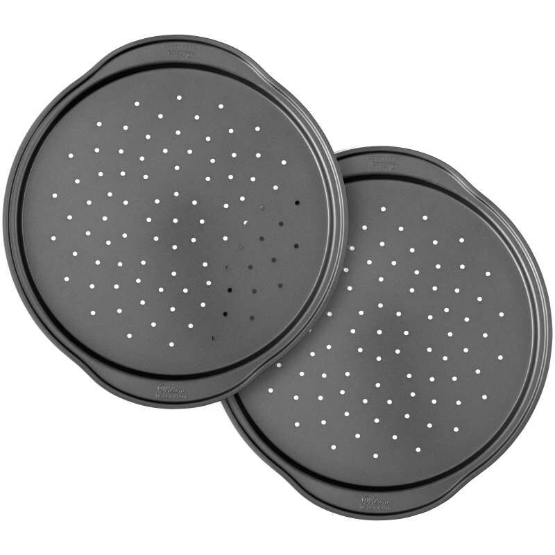 Perfect Results Non-Stick 14-Inch Pizza Pans with Holes, Multipack Set of 2 image number 0