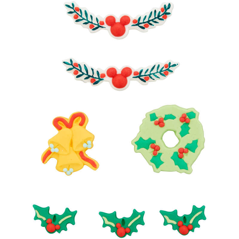 Disney Mickey Mouse Gingerbread Trim Icing Decorations, 0.49 oz. image number 1