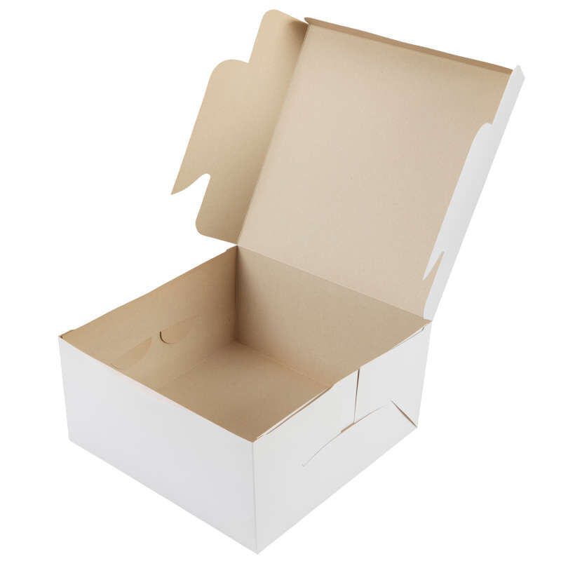 White Square Cake Box, 12-Inch image number 1