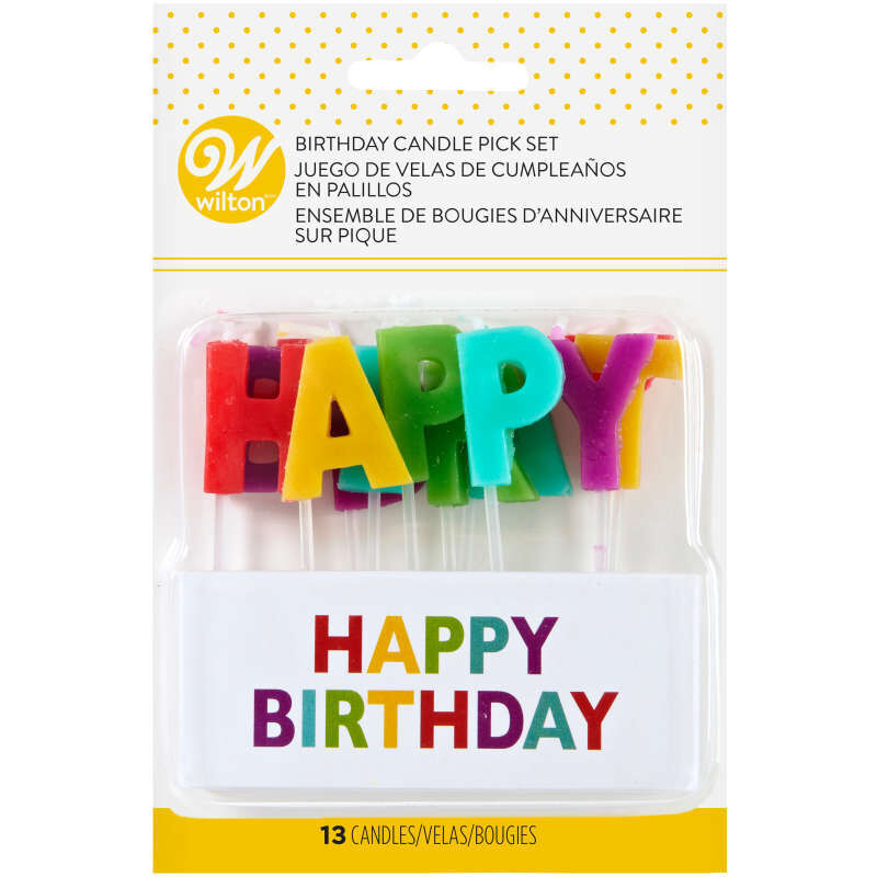 Happy Birthday Candle Pick Set, 13-Count image number 1