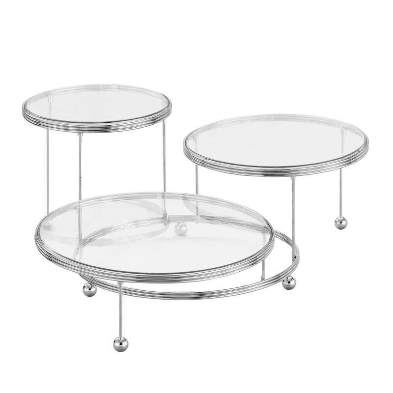 Cakes 'N More 3-Tier Cake Stand, Chrome image number 0