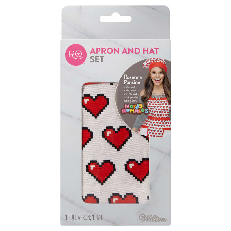 Rosanna Pansino by Apron and Hat Set, 2-Piece image number 1