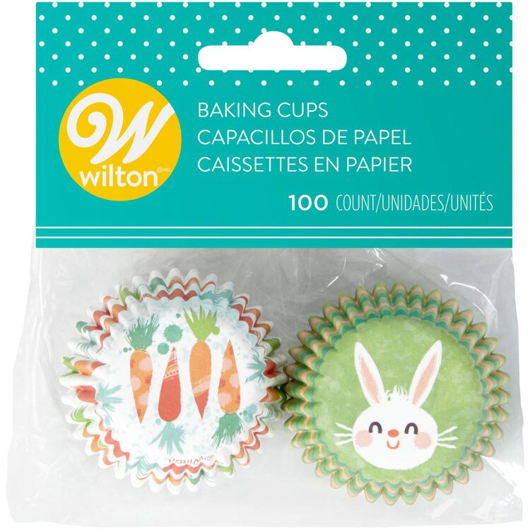 Bunny and Carrot Mini Cupcake Liners, 100-Count