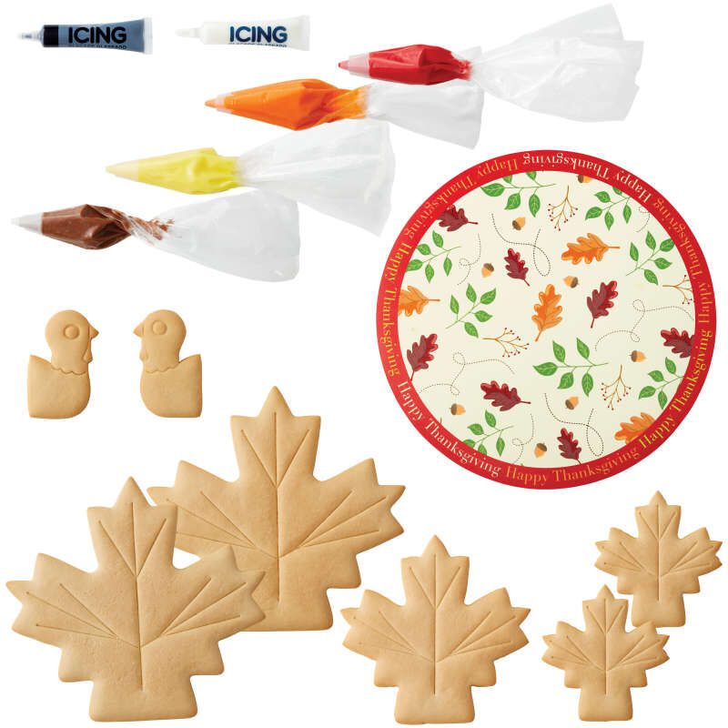 Build It Yourself Turkey Centerpiece Vanilla Cookie Decorating Kit image number 2