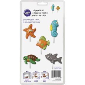 Sea Creatures Lollipop Mold