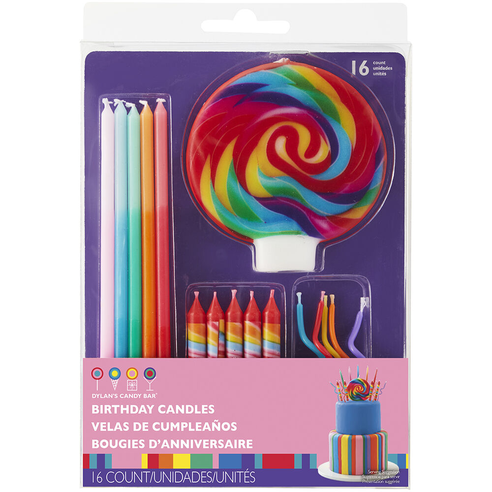Dylans Candy Bar Birthday Candles Set 16 Count