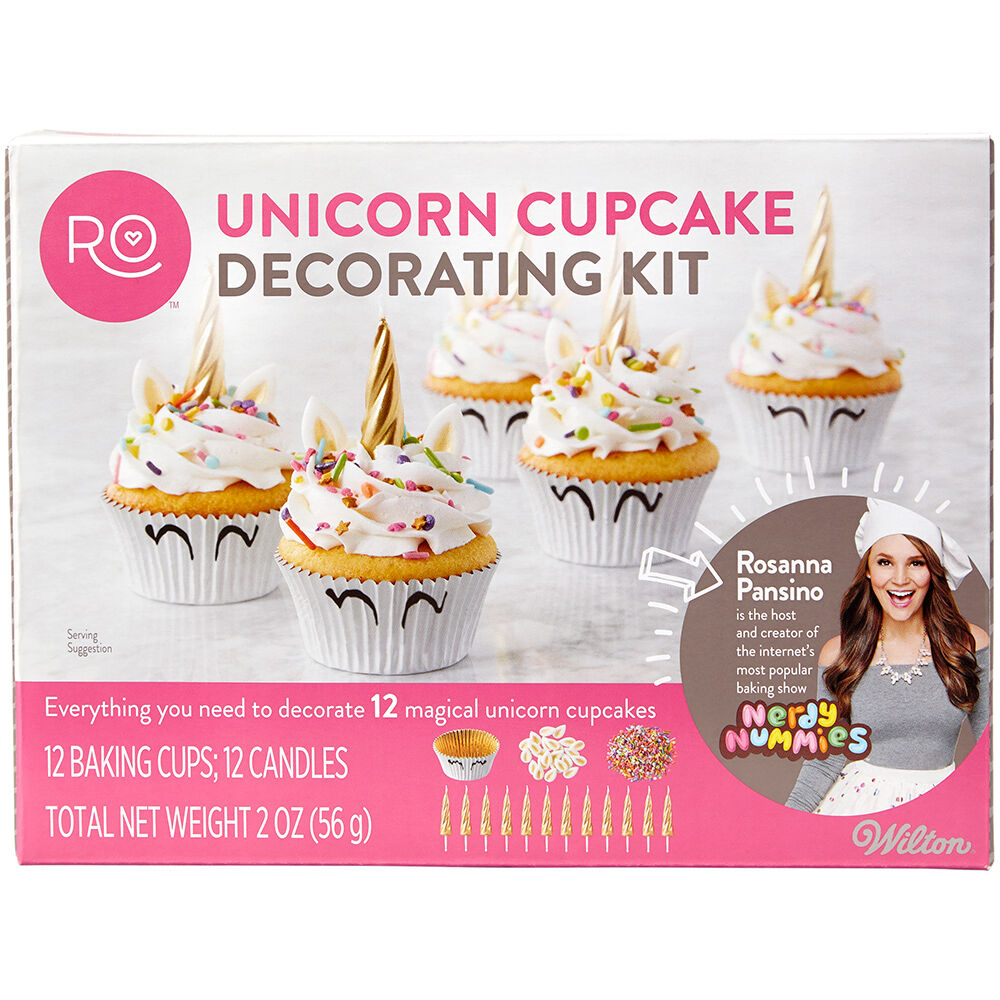 Rosanna Pansino Unicorn Cupcake Decorating Kit | Wilton